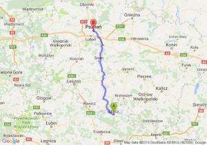 Milicz (dolnośląskie) - Poznań (wielkopolskie)