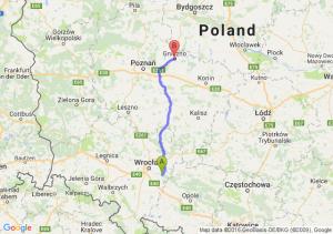 Jelcz-Laskowice (dolnośląskie) - Gniezno (wielkopolskie)