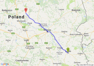 Lublin (lubelskie) - Rypin (kujawsko-pomorskie)