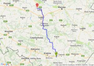 Trasa Brzesko - Krośniewice