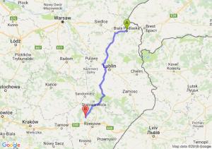 Trasa Biała Podlaska - Kolbuszowa