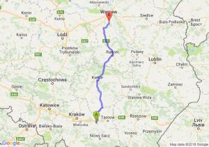 Trasa Brzesko - Piaseczno