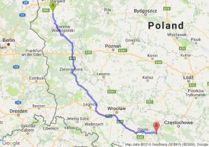 Pyrzyce (zachodniopomorskie) - Kolonowskie (opolskie)