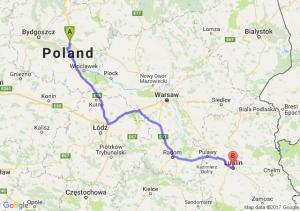 Trasa Lubicz Dolny - Lublin