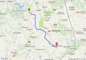 Biała Piska (warmińsko-mazurskie) - Bielsk Podlaski (podlaskie)
