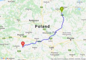 Trasa Olsztynek - Piaski