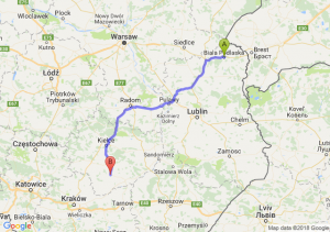 Trasa Biała Podlaska - Busko-Zdrój