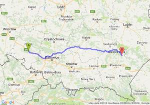 Trasa Dąbrówka Górna - Kopki