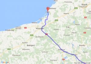 Wrocław (dolnośląskie) - Wabcz (kujawsko-pomorskie) - Dąbki (zachodniopomorskie)