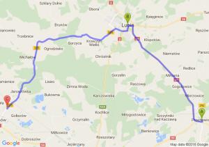 Prochowice (dolnośląskie) - Lubin (dolnośląskie) - Kolonia Kołłątaja (dolnośląskie)