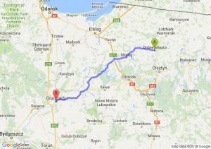Trasa Dobre Miasto - Grudziądz
