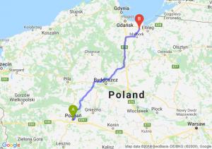 Trasa Poznań - Nowy Dwór Gdański