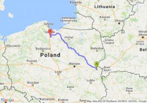 Trasa Biała Podlaska - Pelplin