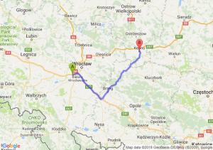 Trasa Biskupice Podgórne - Kępno