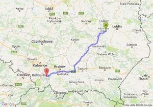 Poniatowa (lubelskie) - Andrychów (małopolskie)