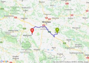 Trasa Brzeg - Świdnica