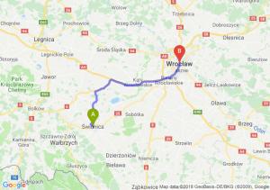 Trasa Świdnica - Wrocław