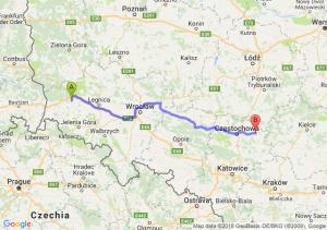 Trasa Bolesławiec - Święta Anna