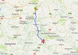Trasa Rawa Mazowiecka - Kielce