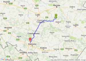 Trasa Białobrzegi - Tarnowskie Góry