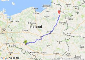 Trasa Bielany Wrocławskie - Olecko