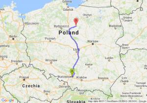 Trasa Katowice - Brodnica