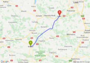 Trasa Wieluń - Łask