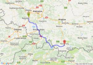 Trasa Czerwionka-Leszczyny - Nowy Targ