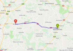 Trasa Rawa Mazowiecka - Brzeziny