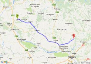 Kowalewo Pomorskie (kujawsko-pomorskie) - Pułtusk (mazowieckie)