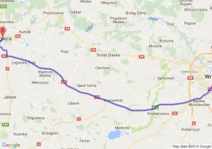 Wrocław (dolnośląskie) - Legnica (dolnośląskie)