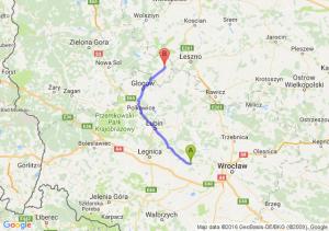 Środa Śląska (dolnośląskie) - Wschowa (lubuskie)