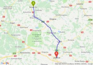 Trasa Nowa Sól - Legnica