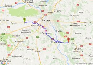Trasa Błonie - Osieck
