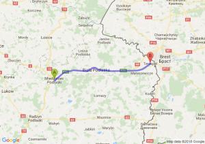 Trasa Międzyrzec Podlaski - Terespol