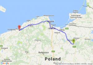 Trasa Olsztynek - Koszalin
