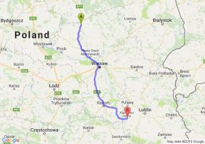 Mława (mazowieckie) - Opole Lubelskie (lubelskie)