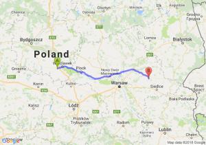 Trasa Brześć Kujawski - Węgrów