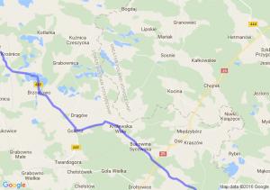 Bralin (wielkopolskie) - Milicz (dolnośląskie)