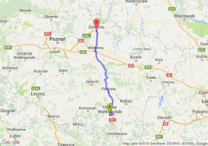Trasa Ostrów Wielkopolski - Gniezno