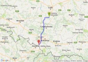 Trasa Bełchatów - Mszana