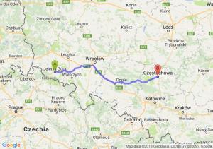 Trasa Jelenia Góra - Częstochowa
