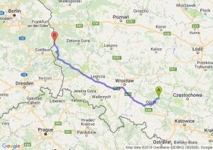 Trasa Bierdzany - Gubin