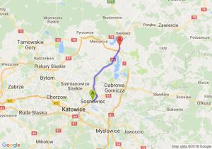 Trasa Sosnowiec - Podwarpie