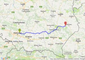 Trasa Dąbrowa Górnicza - Szczebrzeszyn