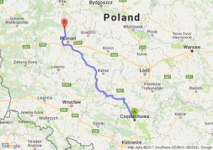 Trasa Częstochowa - Oborniki