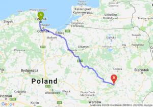 Trasa Gdynia - Ostrów Mazowiecka