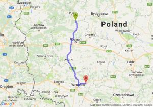 Trasa Chodzież - Oleśnica