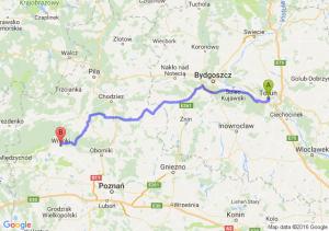 Toruń (kujawsko-pomorskie) - Wronki (wielkopolskie)