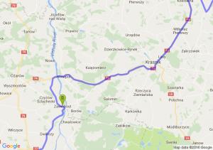 Połaniec - Zawichost (świętokrzyskie) - Lublin (lubelskie)